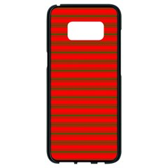 Christmas Red And Green Bedding Stripes Samsung Galaxy S8 Black Seamless Case by PodArtist