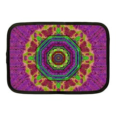 Mandala In Heavy Metal Lace And Forks Netbook Case (medium)  by pepitasart