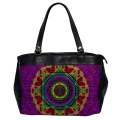 Mandala In Heavy Metal Lace And Forks Office Handbags by pepitasart
