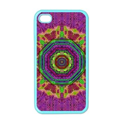 Mandala In Heavy Metal Lace And Forks Apple Iphone 4 Case (color) by pepitasart