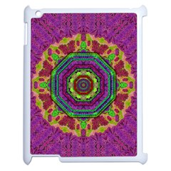 Mandala In Heavy Metal Lace And Forks Apple Ipad 2 Case (white) by pepitasart