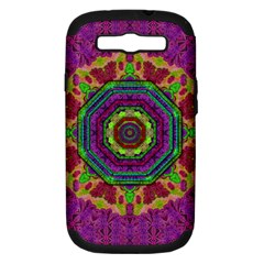 Mandala In Heavy Metal Lace And Forks Samsung Galaxy S Iii Hardshell Case (pc+silicone) by pepitasart