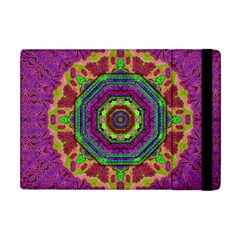 Mandala In Heavy Metal Lace And Forks Apple Ipad Mini Flip Case by pepitasart