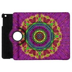 Mandala In Heavy Metal Lace And Forks Apple Ipad Mini Flip 360 Case by pepitasart