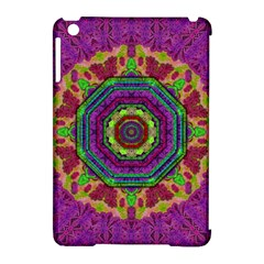 Mandala In Heavy Metal Lace And Forks Apple Ipad Mini Hardshell Case (compatible With Smart Cover) by pepitasart