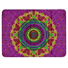 Mandala In Heavy Metal Lace And Forks Samsung Galaxy Tab 7  P1000 Flip Case by pepitasart