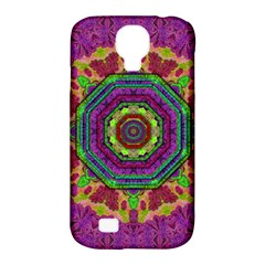 Mandala In Heavy Metal Lace And Forks Samsung Galaxy S4 Classic Hardshell Case (pc+silicone) by pepitasart