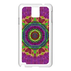 Mandala In Heavy Metal Lace And Forks Samsung Galaxy Note 3 N9005 Case (white) by pepitasart