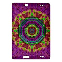 Mandala In Heavy Metal Lace And Forks Amazon Kindle Fire Hd (2013) Hardshell Case by pepitasart