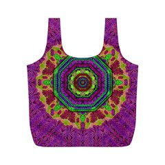 Mandala In Heavy Metal Lace And Forks Full Print Recycle Bags (m)  by pepitasart