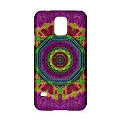 Mandala In Heavy Metal Lace And Forks Samsung Galaxy S5 Hardshell Case  by pepitasart
