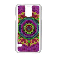Mandala In Heavy Metal Lace And Forks Samsung Galaxy S5 Case (white) by pepitasart
