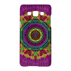 Mandala In Heavy Metal Lace And Forks Samsung Galaxy A5 Hardshell Case  by pepitasart