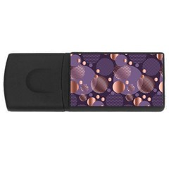 Random Polka Dots, Fun, Colorful, Pattern,xmas,happy,joy,modern,trendy,beautiful,pink,purple,metallic,glam, Rectangular Usb Flash Drive by 8fugoso