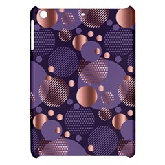 Random Polka Dots, Fun, Colorful, Pattern,xmas,happy,joy,modern,trendy,beautiful,pink,purple,metallic,glam, Apple Ipad Mini Hardshell Case by 8fugoso