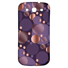 Random Polka Dots, Fun, Colorful, Pattern,xmas,happy,joy,modern,trendy,beautiful,pink,purple,metallic,glam, Samsung Galaxy S3 S Iii Classic Hardshell Back Case by 8fugoso