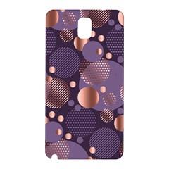 Random Polka Dots, Fun, Colorful, Pattern,xmas,happy,joy,modern,trendy,beautiful,pink,purple,metallic,glam, Samsung Galaxy Note 3 N9005 Hardshell Back Case by 8fugoso