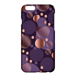 Random Polka Dots, Fun, Colorful, Pattern,xmas,happy,joy,modern,trendy,beautiful,pink,purple,metallic,glam, Apple Iphone 6 Plus/6s Plus Hardshell Case by 8fugoso