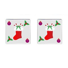 Christmas Stocking Cufflinks (square) by christmastore