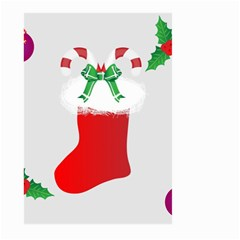 Christmas Stocking Large Garden Flag (two Sides) by christmastore