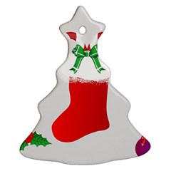 Christmas Stocking Christmas Tree Ornament (two Sides)