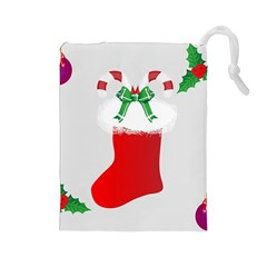 Christmas Stocking Drawstring Pouches (large)