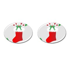 Christmas Stocking Cufflinks (oval) by christmastore