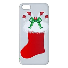 Christmas Stocking Apple Iphone 5 Premium Hardshell Case by christmastore