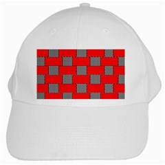Black And White Red Patterns White Cap by Celenk