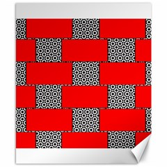 Black And White Red Patterns Canvas 8  X 10  by Celenk