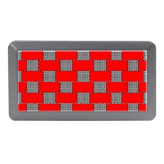 Black And White Red Patterns Memory Card Reader (mini)