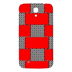 Black And White Red Patterns Samsung Galaxy Mega I9200 Hardshell Back Case by Celenk