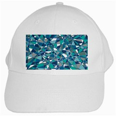 Abstract Background Blue Teal White Cap by Celenk
