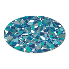 Abstract Background Blue Teal Oval Magnet by Celenk