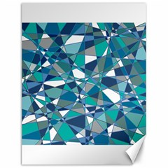 Abstract Background Blue Teal Canvas 12  X 16   by Celenk