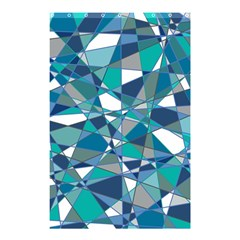 Abstract Background Blue Teal Shower Curtain 48  X 72  (small)  by Celenk
