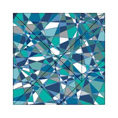 Abstract Background Blue Teal Acrylic Tangram Puzzle (6  X 6 ) by Celenk