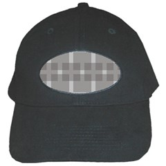 Gray Designs Transparency Square Black Cap by Celenk