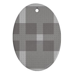 Gray Designs Transparency Square Oval Ornament (two Sides) by Celenk
