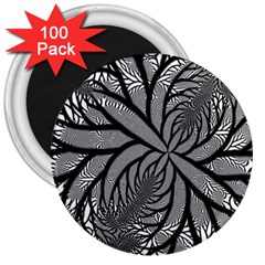 Fractal Symmetry Pattern Network 3  Magnets (100 Pack) by Celenk
