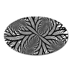 Fractal Symmetry Pattern Network Oval Magnet by Celenk