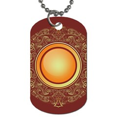 Badge Gilding Sun Red Oriental Dog Tag (one Side) by Celenk