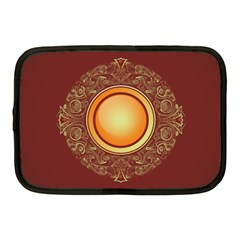 Badge Gilding Sun Red Oriental Netbook Case (medium)  by Celenk
