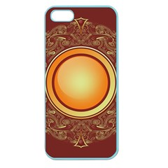 Badge Gilding Sun Red Oriental Apple Seamless Iphone 5 Case (color) by Celenk