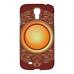 Badge Gilding Sun Red Oriental Samsung Galaxy S4 I9500/i9505 Hardshell Case by Celenk