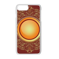 Badge Gilding Sun Red Oriental Apple Iphone 8 Plus Seamless Case (white) by Celenk