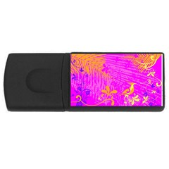 Spring Tropical Floral Palm Bird Rectangular Usb Flash Drive by Celenk