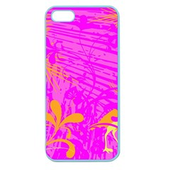 Spring Tropical Floral Palm Bird Apple Seamless Iphone 5 Case (color) by Celenk