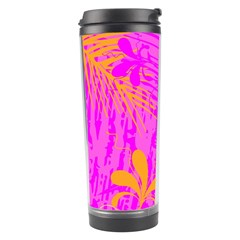 Spring Tropical Floral Palm Bird Travel Tumbler by Celenk