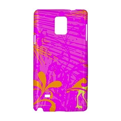 Spring Tropical Floral Palm Bird Samsung Galaxy Note 4 Hardshell Case by Celenk